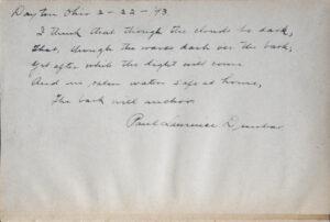 A note in handwritten cursive