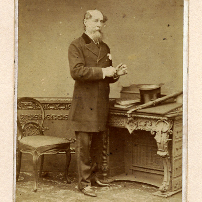 The last photograph taken of Charles Dickens, 8 June 1870. Collection of the Rosenbach, EL3.D548 MS4