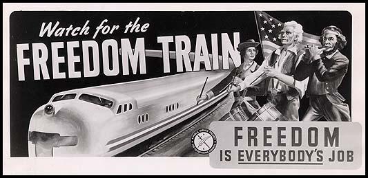 summary of freedom train by langston hughes