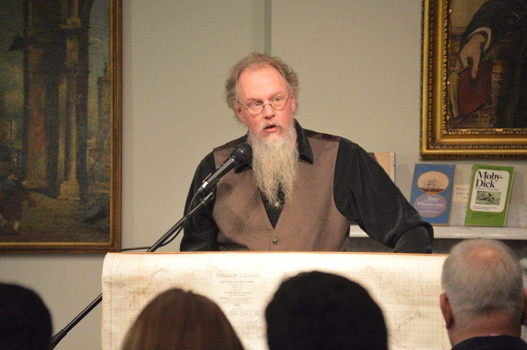 "Rosenbach Manager of Public Programs Edward G Pettit reads ""The Chapel"""