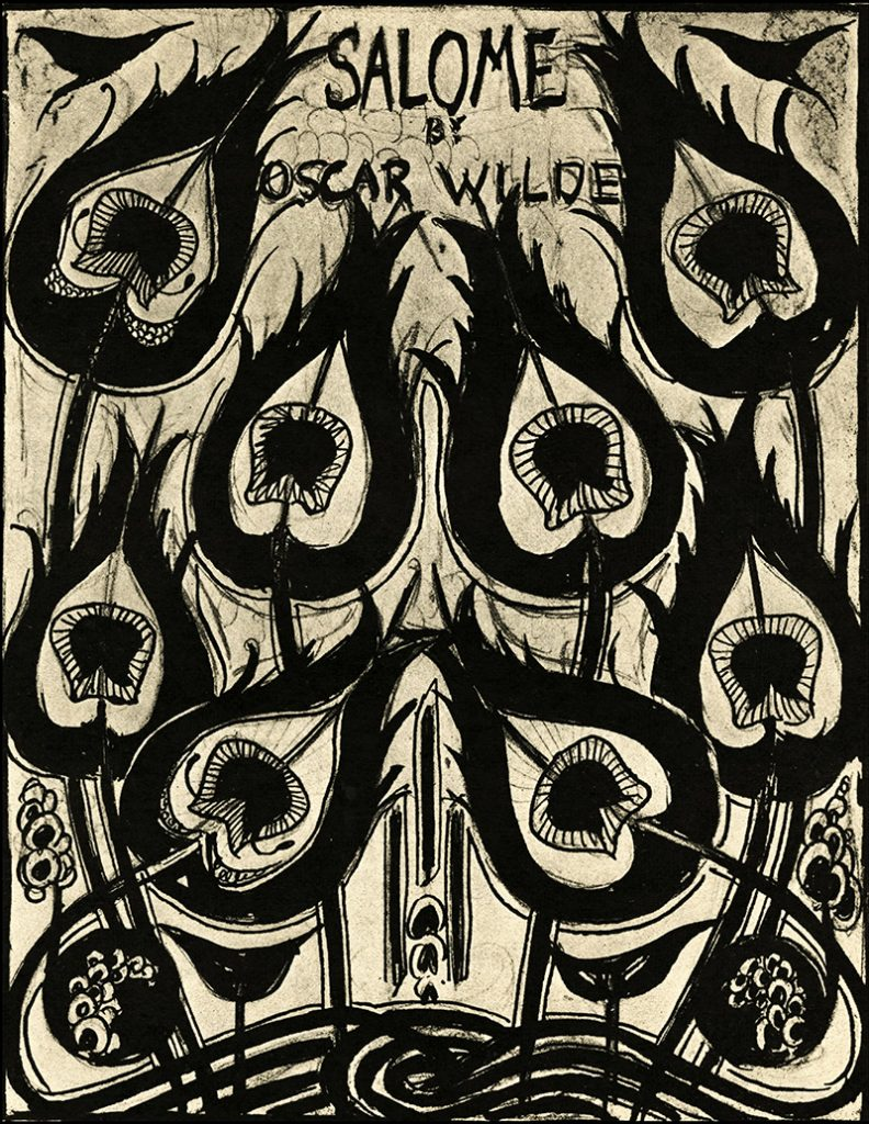"""From a portfolio of 17 Aubrey Beardsley drawings illustrating """"Salome"""" by Oscar Wilde. [London, J. Lane, 1906] Collection of the Rosenbach, 1954.0801.003."""